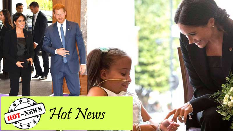 Prince Harry and Meghan Markle share heartwarming moment with sick girl at charity event